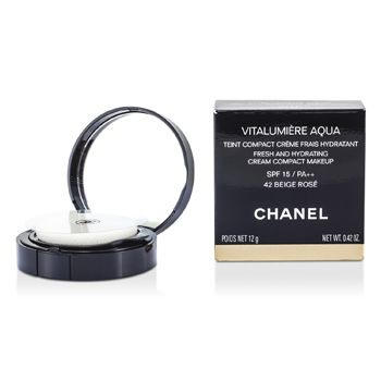 Chanel Vitalumiere Aqua Fresh And Hydrating Cream Compact MakeUp SPF 15 - # 42 Beige Rose