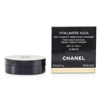 Chanel Vitalumiere Aqua Fresh And Hydrating Cream Compact MakeUp SPF 15 - # 30 Beige