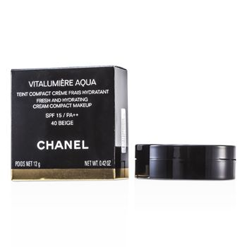 Chanel Vitalumiere Aqua Fresh And Hydrating Cream Compact MakeUp SPF 15 - # 40 Beige