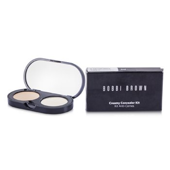 Bobbi Brown New Creamy Concealer Kit - Sand Creamy Concealer + Pale Yellow Sheer Finished Pressed Powder