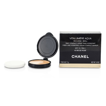 Chanel Vitalumiere Aqua Fresh And Hydrating Cream Compact MakeUp SPF 15 Refill - # 42 Beige Rose