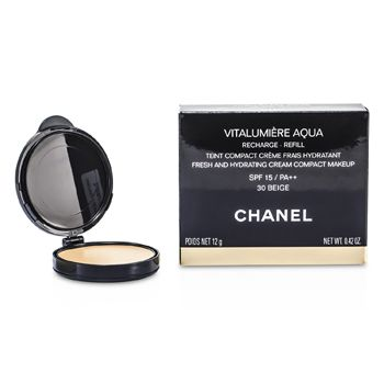 Chanel Vitalumiere Aqua Fresh And Hydrating Cream Compact MakeUp SPF 15 Refill - # 30 Beige