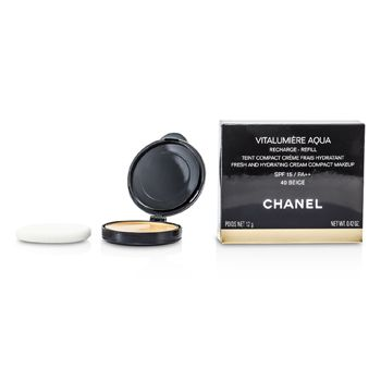 Chanel Vitalumiere Aqua Fresh And Hydrating Cream Compact MakeUp SPF 15 Refill - # 40 Beige