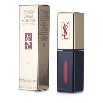 Yves Saint Laurent Rouge Pur Couture Vernis a Levres Glossy Stain - # 8 Orange De Chine