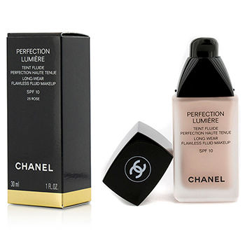 Chanel Perfection Lumiere Long Wear Flawless Fluid Make Up SPF 10 - # 25 Rose