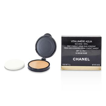Chanel Vitalumiere Aqua Fresh And Hydrating Cream Compact MakeUp SPF 15 Refill - # 52 Beige Rose