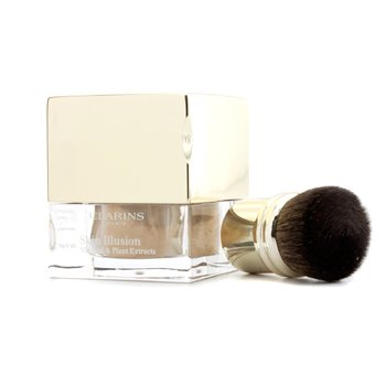 Clarins Skin Illusion Mineral & Plant Extracts Loose Powder Foundation (With Brush) - # 112 Amber
