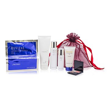 Shiseido Revital Set: Perfumed Shower Gel + Whitening Moisturizer EX II + Cleansing Foam II + Whitening Moisturizer EX II + Lifting Mask Science EX + Maquillage