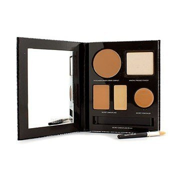 Laura Mercier The Flawless Face Book - # Tan (1x Creme Compact, 1x Pressed Powder w/ sponge, 1x Secret Camouflage...)