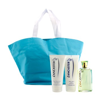 Lancaster Eau De Lancaster Coffret: Edt Spray 125ml/4.2oz + Body Milk 200ml/6.7oz + Hand Treatment 200ml/6.7oz + Hand Bag