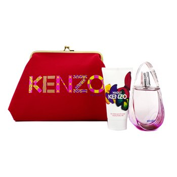 Kenzo Madly Coffret: Eau De Toilette Spray 50ml/1.7oz + Creamy Body Milk 50ml/1.7oz + Pouch