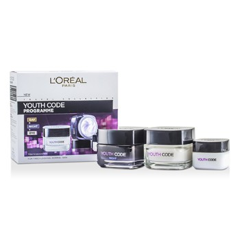 L'Oreal Youth Code Programme (For Tired-Looking, Normal Skin): Night Cream 50ml + Day Cream 50ml + Eye Cream 15ml
