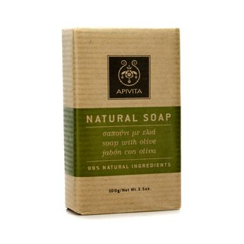Apivita Natural Soap with Olive (Ideal For All Skin Types)