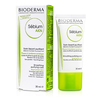 Bioderma Sebium AKN Smoothing Purifying Care (For Smoothes and Relines the Skin Texture Reveals Radiant Skin)