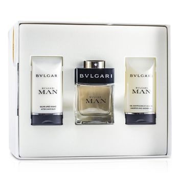 Bvlgari Man Coffret: Eau De Toilette Spray 60ml/2oz + After Shave Balm 75ml/2.5oz + Shampoo & Shower Gel 75ml/2.5oz