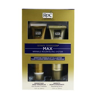 ROC Retinol Correxion Max Wrinkle Resurfacing System: Anti-Wrinkle Treatment 30ml + Resurfacing Serum 30ml