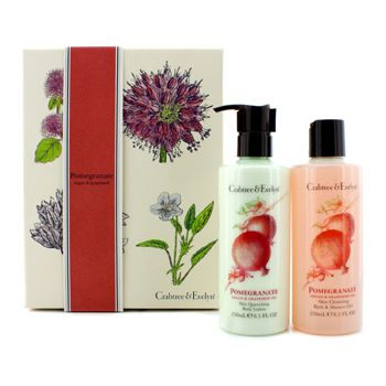 Crabtree & Evelyn Pomegranate, Argan & Grapeseed Perfect Pair: Bath & Shower Gel 250ml +  Body Lotion 250ml