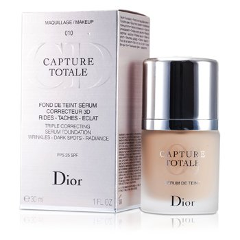 Christian Dior Capture Totale Triple Correcting Serum Foundation SPF25 - # 010 Ivory