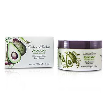 Crabtree & Evelyn Avocado, Olive & Basil Skin Nourishing Body Butter