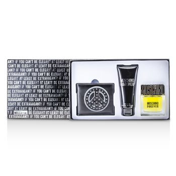 Moschino Forever Coffret: Eau De Toilette Spray 50ml/1.7oz + Bath & Shower Gel 100ml/3.4oz + Wallet