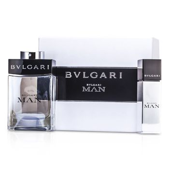 Bvlgari Man Coffret: Eau De Toilette Spray 100ml/3.4oz + Eau De Toilette Travel Spray 15ml/0.5oz