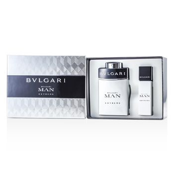 Bvlgari Man Extreme Coffret: Eau De Toilette Spray 100ml/3.4oz + Eau De Toilette Travel Spray 15ml/0.5oz