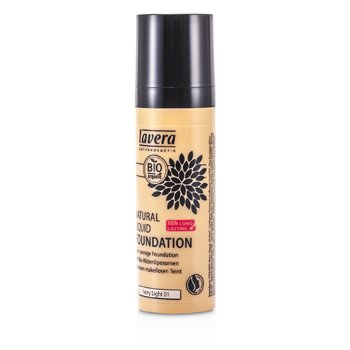 Lavera Natural Liquid Foundation (10H Long Lasting) - # 01 Ivory Light