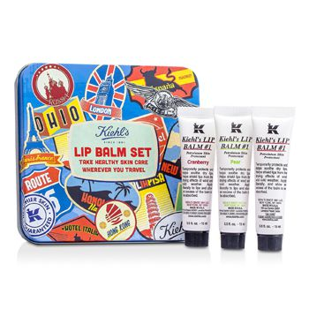 Kiehl's Lip Balm #1 Set: Lip Balm #1 15ml/0.5oz + Lip Balm #1 Cranberry 15ml/0.5oz + Lip Balm #1 Pear 15ml/0.5oz