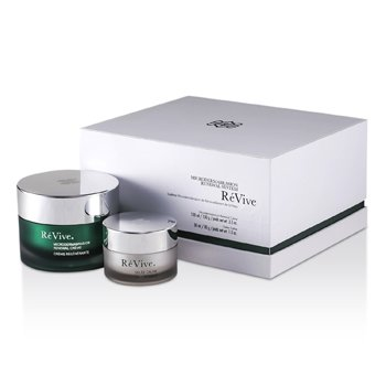Re Vive Microdermabrasion Renewal System: Renewal Creme 100ml/3.3oz + Gelee Calme 30ml/1oz (White Gift Box)