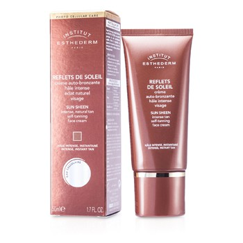 Esthederm Sun Sheen Self-Tanning Face Cream (Intense, Instant Tan)