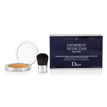 Christian Dior Diorskin Nude Tan Nude Extra Matte Sun Powder (With Kabuki Brush) - # 003 Matte Cinnamon