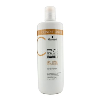 Schwarzkopf BC Time Restore Q10 Plus Conditioner - For Mature and Fragile Hair (New Packaging)