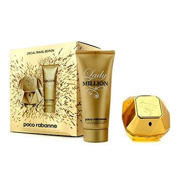 Paco Rabanne Lady Million Special Travel Edition Coffret: Eau De Parfum Spray 80ml/2.7oz + Sensual Body Lotion 100ml/3.4oz