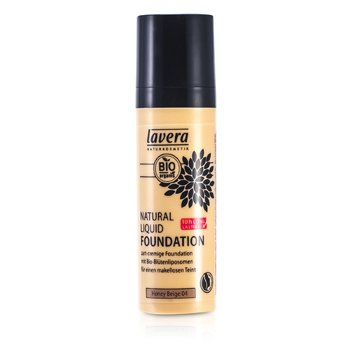 Lavera Natural Liquid Foundation (10H Long Lasting) - # 04 Honey Beige