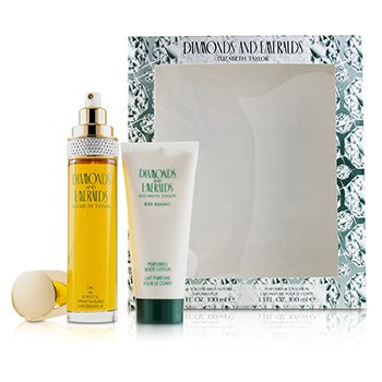 Elizabeth Taylor Diamonds & Emeralds Coffret: Eau De Toilette Spray 100ml/3.3oz + Perfumed Body Lotion 100ml/3.3oz