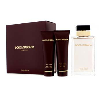 Dolce & Gabbana Pour Femme Coffret (New Version): Eau De Parfum Spray 100ml/3.3oz + Body Lotion 50ml/1.6oz + Shower Gel 50ml/1.6oz