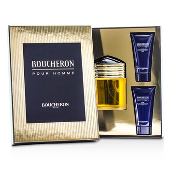 Boucheron Boucheron Coffret: Eau De Parfum Spray 100ml/3.3oz + 2x Soothing After Shave Balm 50ml/1.6oz