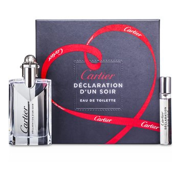 Cartier Declaration d'un Soir Coffret: Eau De Toilette Spray 50ml/1.6oz + Eau De Toilette Spray 9ml/0.3oz