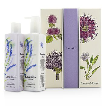 Crabtree & Evelyn Lavender Perfect Pair: Bath & Shower Gel 250ml + Body Lotion 245ml