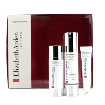 Elizabeth Arden Visible Difference Set: Balancing Lotion SPF15 50ml + Serum 30ml + Eye Gel 15ml