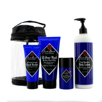 Jack Black Clean & Cool Body Basic Set: All Over Wash 177ml + Hand Healer 88ml + Body Lotion 473ml + Deodorant 78g