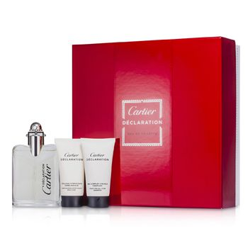 Cartier Declaration Coffret: Eau De Toilette Spray 50ml/1.6oz + All Over Shampoo 30ml/1oz + After Shave Emulsion 30ml/1oz