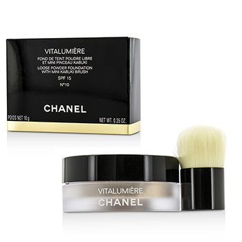 Chanel Vitalumiere Loose Powder Foundation SPF15 With Mini Kabuki Brush - # 10