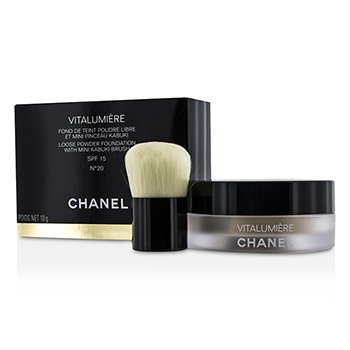 Chanel Vitalumiere Loose Powder Foundation SPF15 With Mini Kabuki Brush - # 20