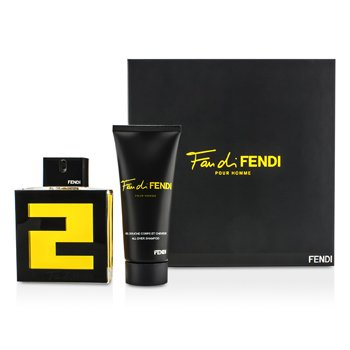 Fendi Fan Di Fendi Pour Homme Coffret: Eau De Toilette Spray 100ml/3.3oz + All Over Shampoo 100ml/3.3oz