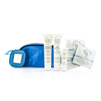 Joey New York Total Perfecttion Skin Care Kit: Masque 41.4ml + Cleanser & Scrub 38ml + Bye Bye Blackheads 10ml + 3x Cleansing Wipes + Bag