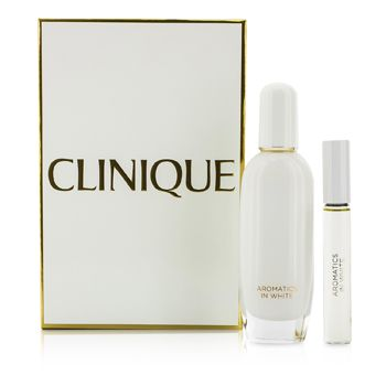 Clinique Aromatics In White Coffret: Eau De Parfum Spray 50ml/1.7oz + Eau De Parfum Rollerball 10ml/0.34oz