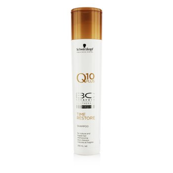 Schwarzkopf BC Time Restore Q10 Plus Shampoo - For Mature and Fragile Hair (New Packaging)