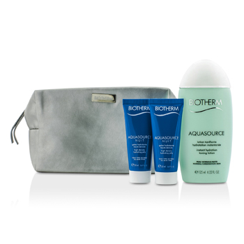Biotherm Aquasource Set: Instant Hydration Toning Lotion 125ml + Hydrating Jelly 2x20ml + Bag