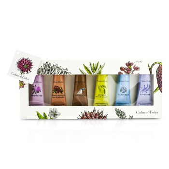 Crabtree & Evelyn Best Seller Hand Cream Set: La Source 25g + Gardeners 25g + Rosewater 25g + Lavender 25g + Citron 25g + Pomegranate 25g